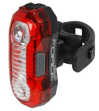 Světlo na kolo - Zadní blikačka Force DEUX 5 LED, USB