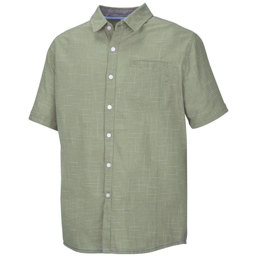Khaki pánská košile s krátkým rukávem Husky