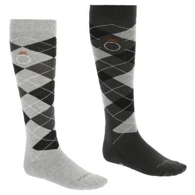 Šedé jezdecké ponožky Fouganza - 2 ks