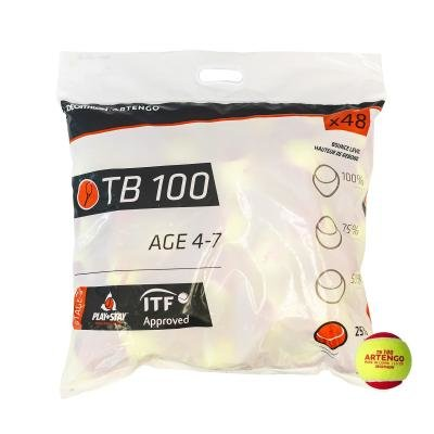 Červený tenisový míček TB 100, Artengo - 48 ks