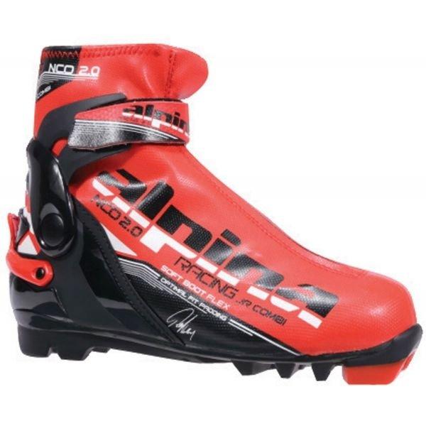 Černo-červené pánské boty na běžky Alpina - velikost 36 EU