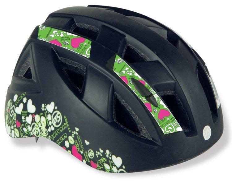 Černá dětská cyklistická helma Powerslide