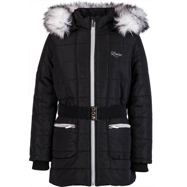 Černý dívčí kabát Lewro