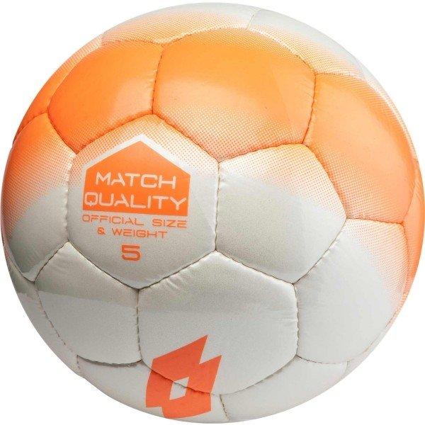 Bílo-oranžový fotbalový míč Lotto