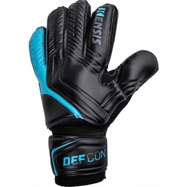 Černo-modré pánské brankářské fotbalové rukavice Kensis