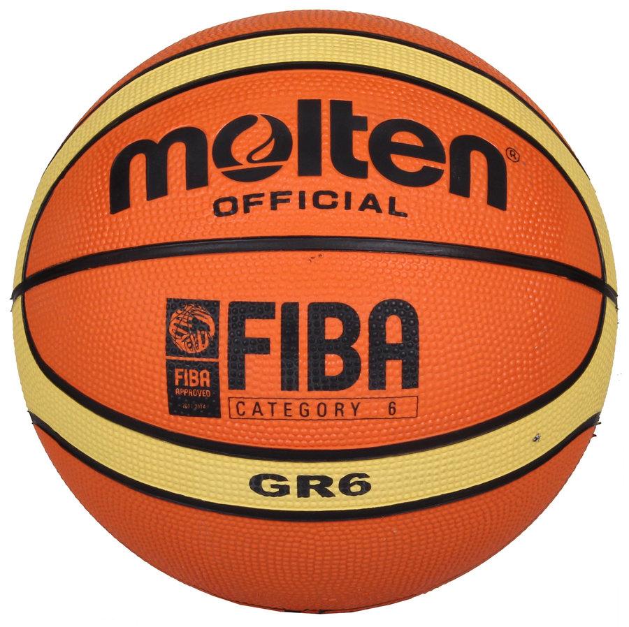 Oranžový basketbalový míč BGR6, Molten - velikost 6