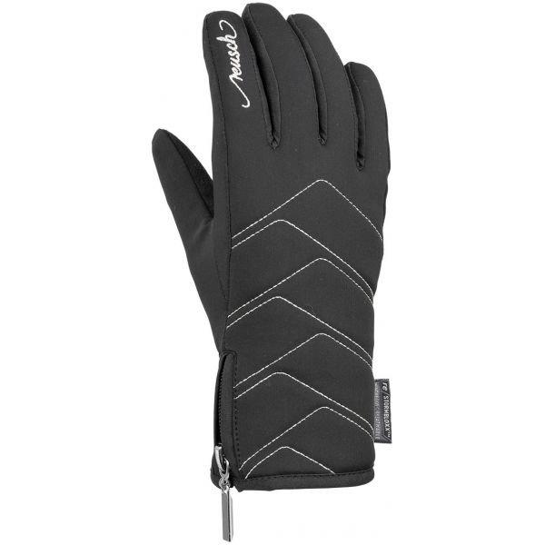 Černé dámské lyžařské rukavice Reusch - velikost 6