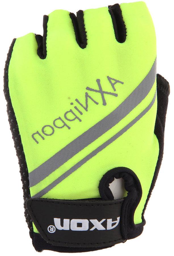 Žluté dětské cyklistické rukavice Axon - velikost XS