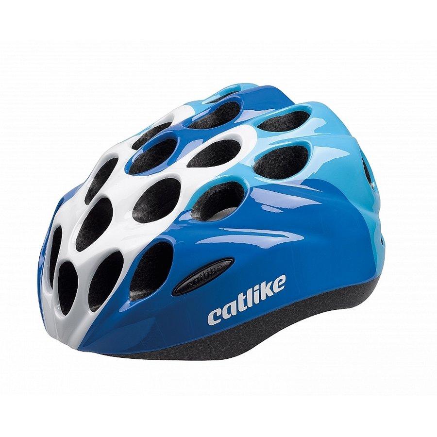 Bílo-modrá dětská cyklistická helma Kitten, Catlike - velikost 55 cm