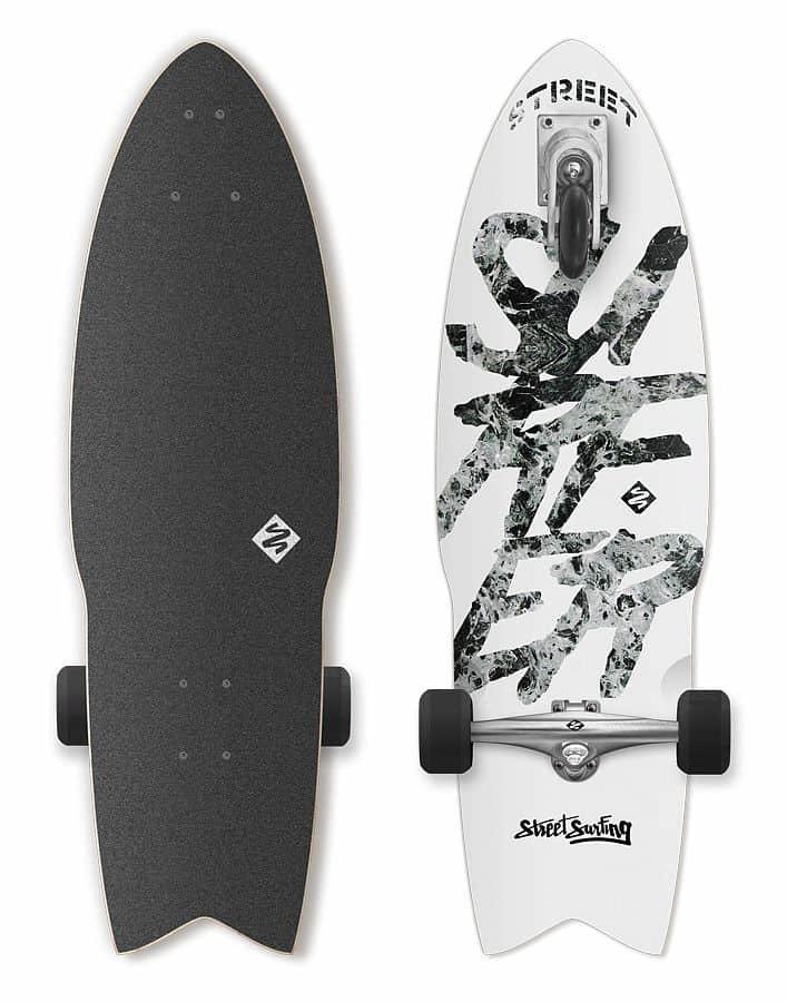 """Longboard - Longboard Street Surfing SHARK ATTACK 30"""" Great White"""