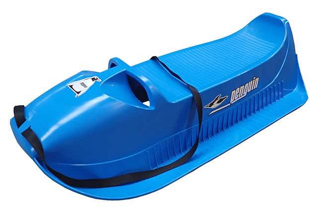 Modré plastové dětské sáňky Acra