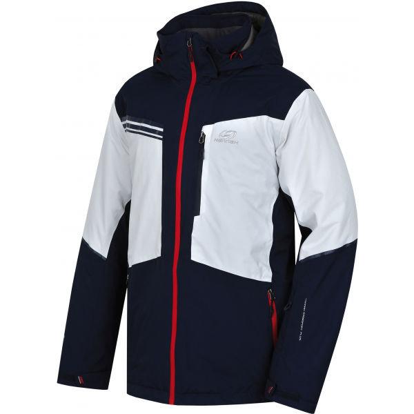 Bílo-černá pánská lyžařská bunda Hannah