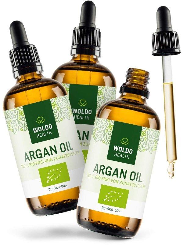 Olej - 2+1 Woldohealth BIO Arganový olej z Maroka 3x100 ml