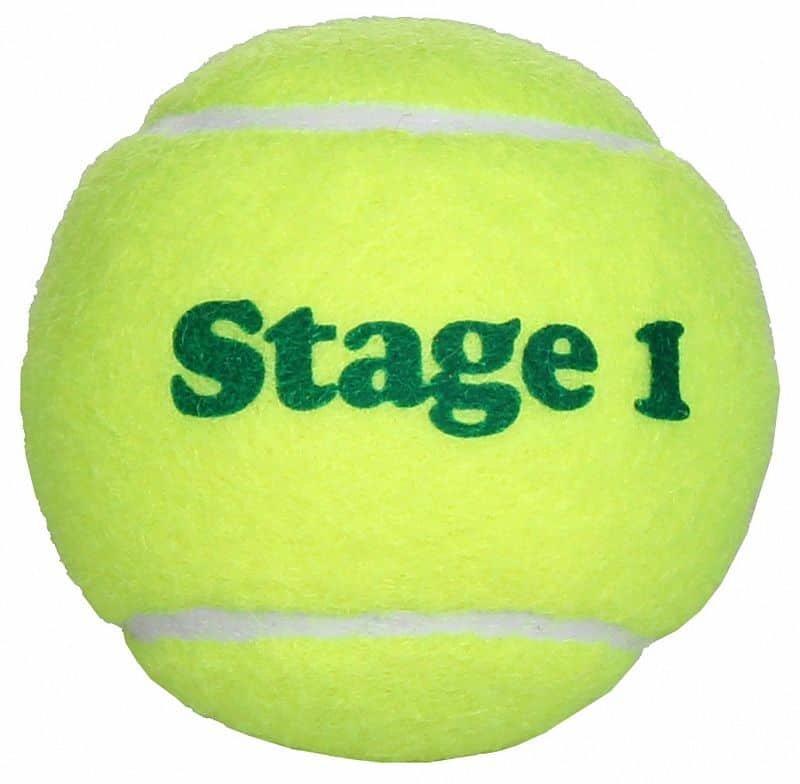 Tenisový míček - Stage 1 Green dětské tenisové míče, středně tvrdé balení: 1 ks