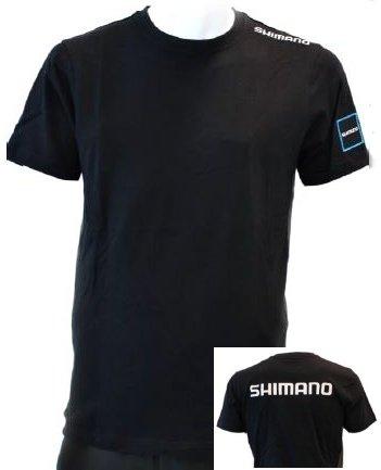 Černé pánské rybářské tričko s krátkým rukávem Shimano