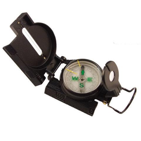 Kompas - Kompas TACTICAL MARCHING kovové tělo ČERNÝ