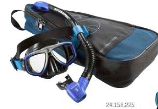 Potápěčská maska - Set maska a šnorchl Zoom Evo Combo Scubapro - modro/stříbrna - černá