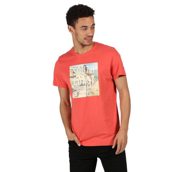 Červené pánské tričko s krátkým rukávem Regatta