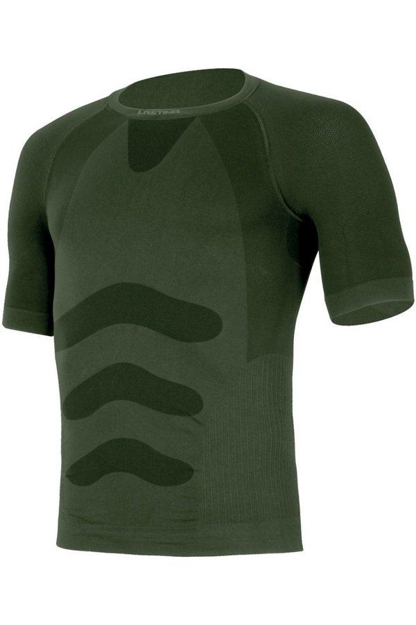 Zelené pánské termo tričko s krátkým rukávem Lasting - velikost S