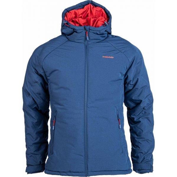 Modrá zimní pánská bunda s kapucí Head