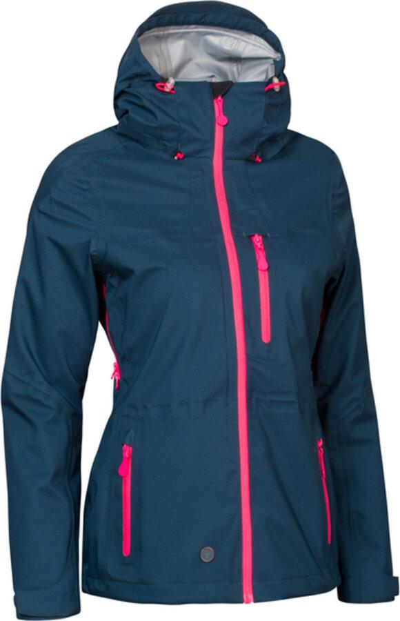 Modrá zimní dámská bunda s kapucí Woox - velikost 38