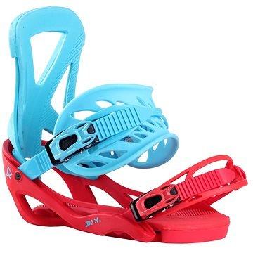 Červeno-modré vázání na snowboard ROBLA - velikost L