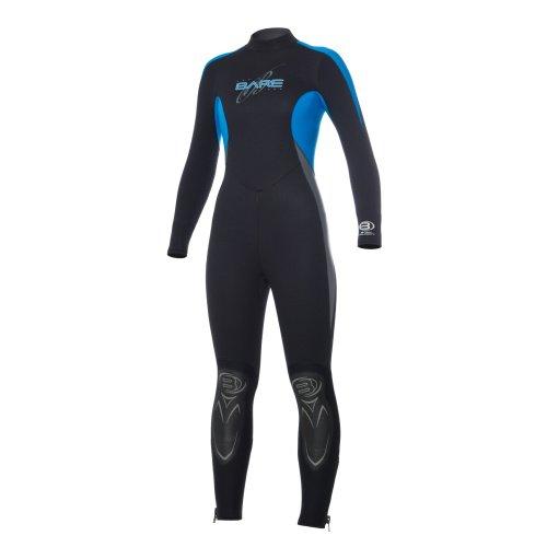 Modrý dámský neoprenový oblek Velocity Full 5/4 Lady, Bare - velikost 10 a tloušťka 5 mm