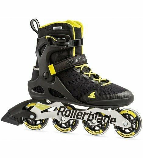 Černo-žluté fitness kolečkové brusle Rollerblade - velikost 43 EU