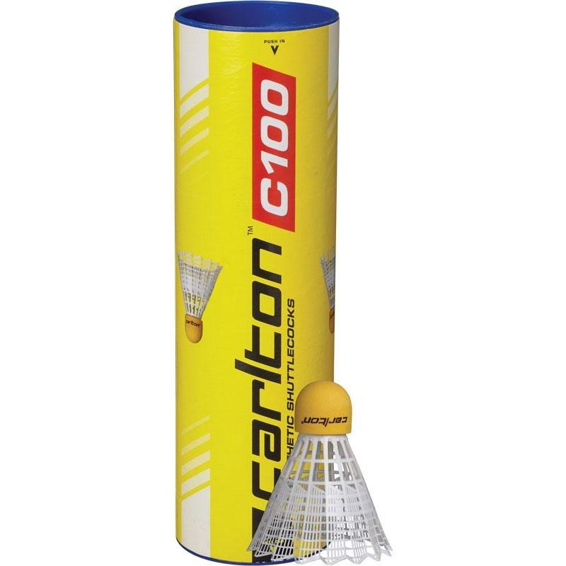 Bílý plastový badmintonový míček Carlton - 6 ks