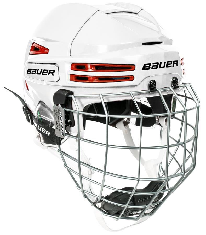 Hokejová helma - Combo Bauer RE-AKT 75 WHT/RED Velikost: S