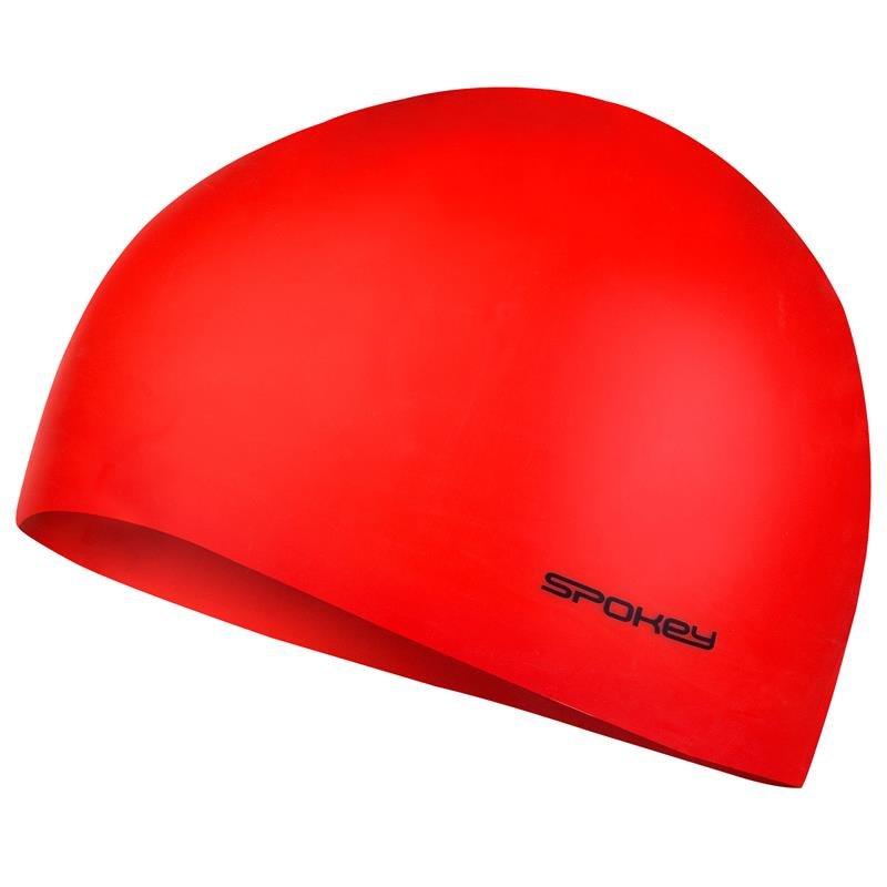 Červená pánská nebo dámská plavecká čepice SUMMER, Spokey