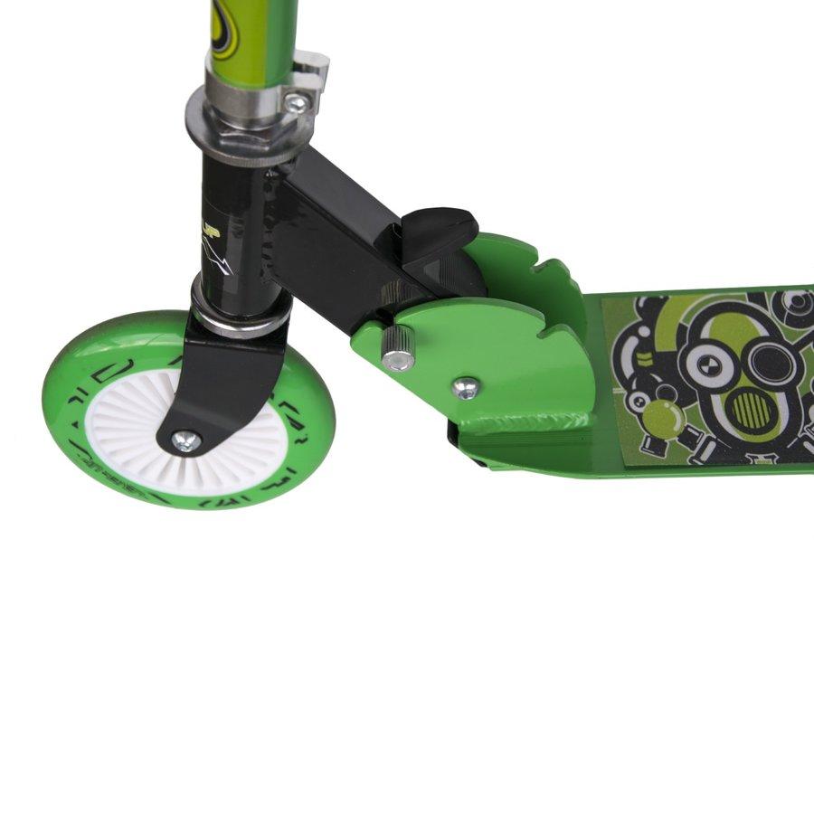 Zelená dětská koloběžka Level Up, Master - nosnost 100 kg
