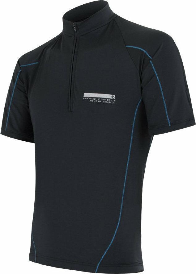 Černý pánský cyklistický dres Sensor