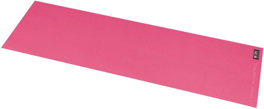 Růžová podložka na jógu Köck Sport - délka 152 cm a tloušťka 0,4 cm