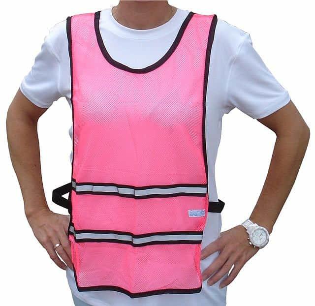 Růžová běžecká vesta Acra