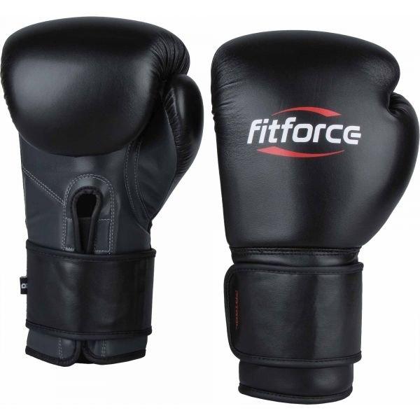 Černé boxerské rukavice Fitforce - velikost 14 oz