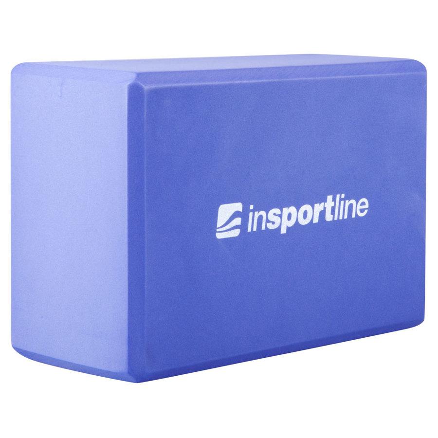 Fialový jóga blok inSPORTline - délka 22,5 cm, šířka 15 cm a výška 10 cm