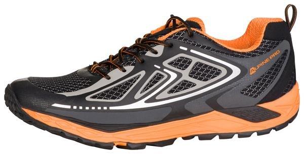 Černo-oranžové pánské běžecké boty Alpine Pro, Alpine Pro