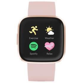 Růžové chytré hodinky Versa 2, Fitbit