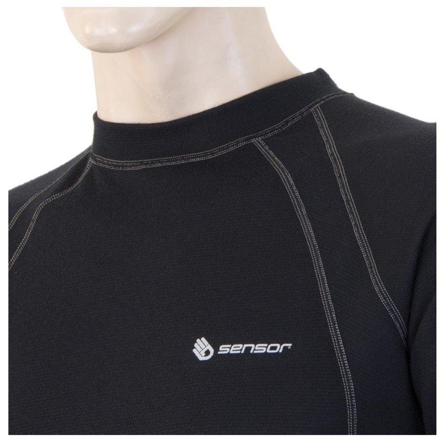 Termo tričko - Triko dl. ruk. SENSOR Double Face pán. černé - vel. XXXL