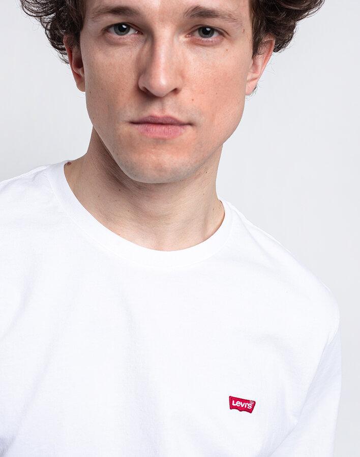 Bílé pánské tričko s krátkým rukávem Levi's - velikost S