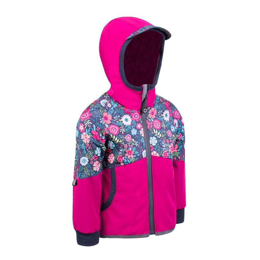 Růžová softshellová dívčí bunda Unuo