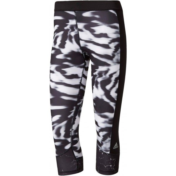 Bílo-černé 3/4 dámské legíny Adidas