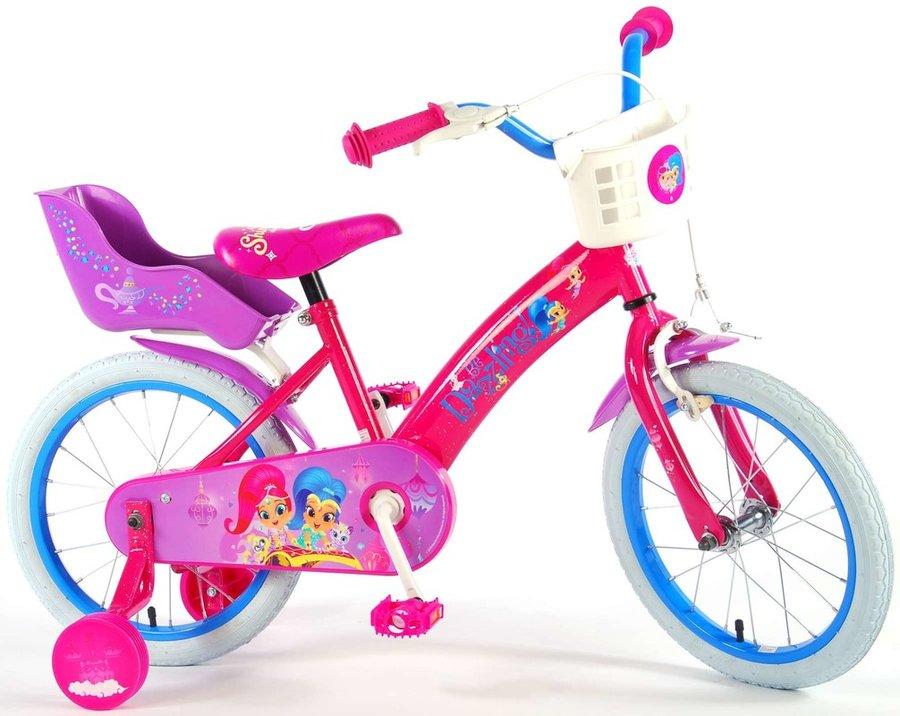 """Kolo - VOLARE - Dětské kolo pro dívky, Shimmer & Shine,, 16 """"- růžový"""