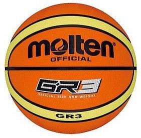 Oranžový basketbalový míč BGR3, Molten - velikost 3