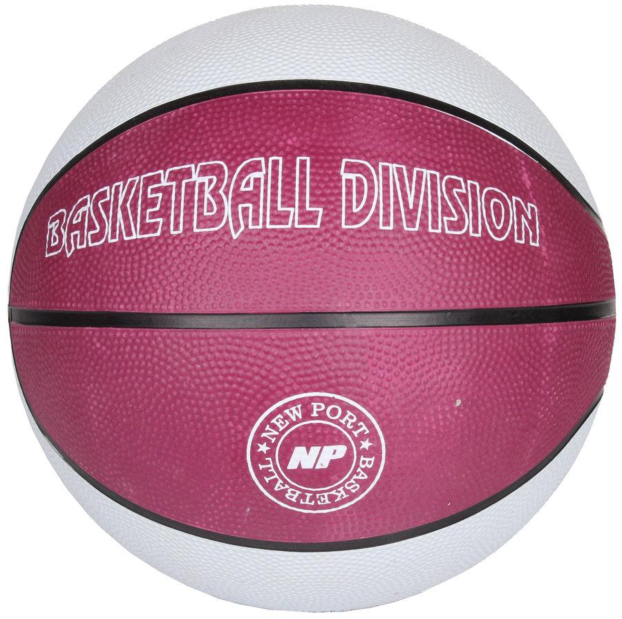 Bílo-růžový basketbalový míč Print, New Port - velikost 7
