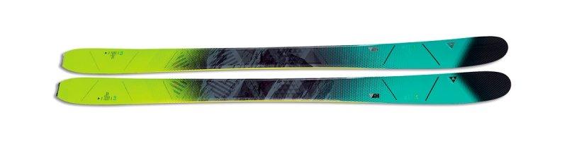 Modro-zelené dámské freeridové lyže bez vázání Fischer - délka 172 cm