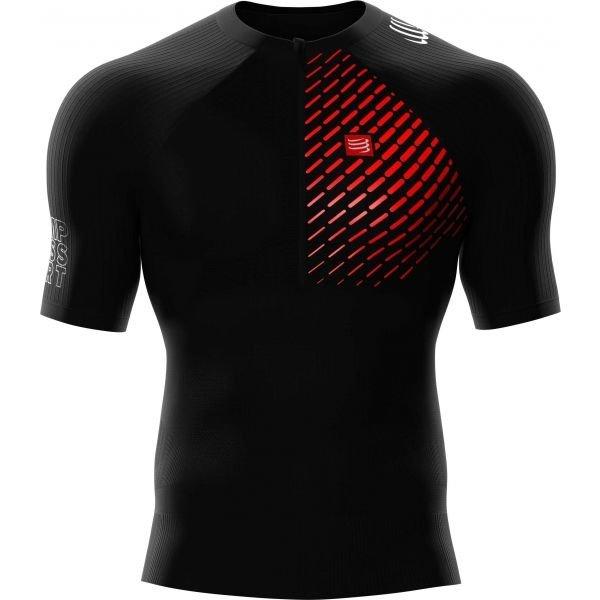 Černé pánské běžecké tričko CompresSport