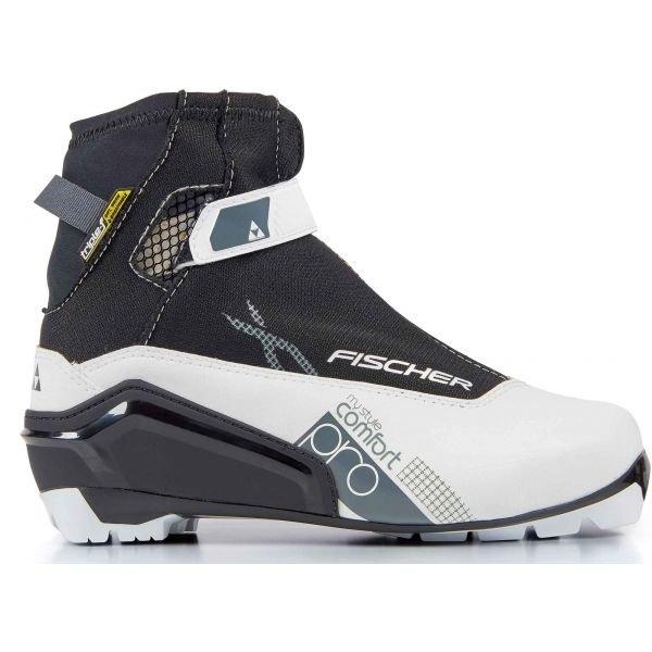 Bílo-černé dámské boty na běžky Fischer - velikost 42 EU