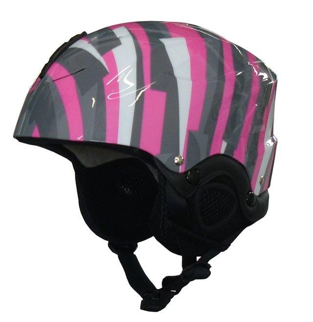 Růžovo-šedá lyžařská helma Brother